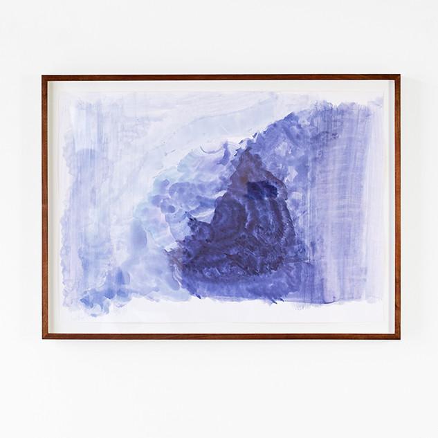 Veli-Matti Hoikka, Untitled (purple swell), 2018, acrylic on paper, 19 5/8 x 27 9/16 inches