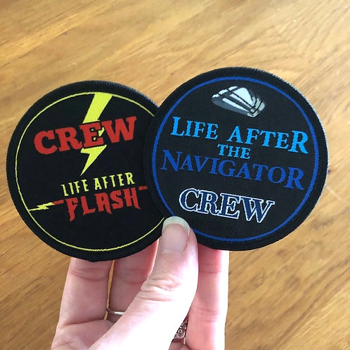 Limited Edition CREW Patches! (Only with disc purchase)