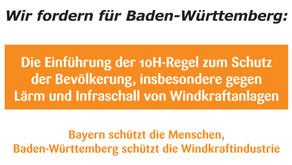 """CDU Gemeinderatsfraktionen - Initiatoren und Erstunterzeichner von """"10H für BW"""""""