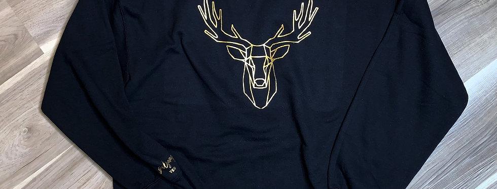 Reindeer Crewneck | Gold Details