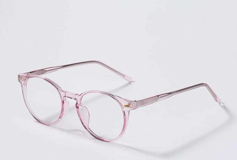 Blue Light Glasses - Clear Pink