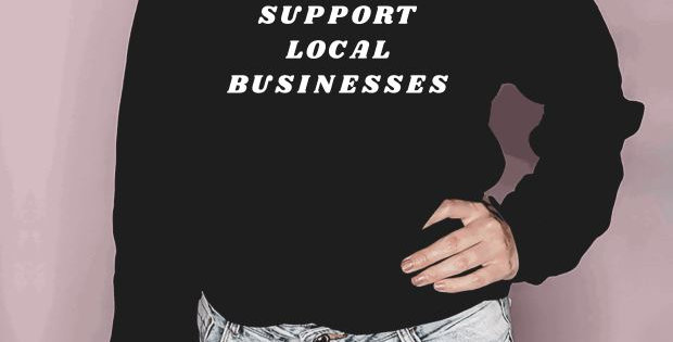 Support Local Businesses Crewneck