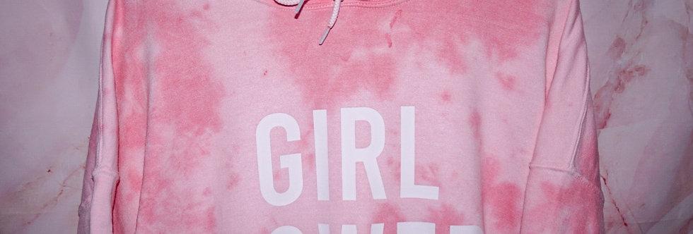 GIRL POWER Tie-Dye Hoodie