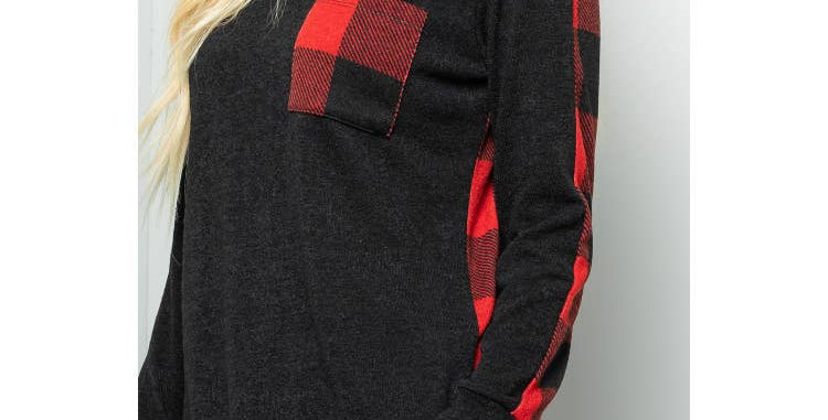 Red Plaid Sweater   1 SMALL LEFT
