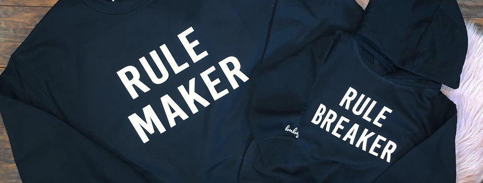 Rule Maker & Rule Breaker - Mama & Toddler Matching Set