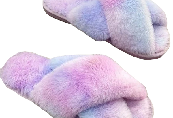 Cotton Candy Fluffy Slippers