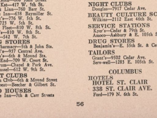 In Columbus, the Green Book was an important guide for African American travelers