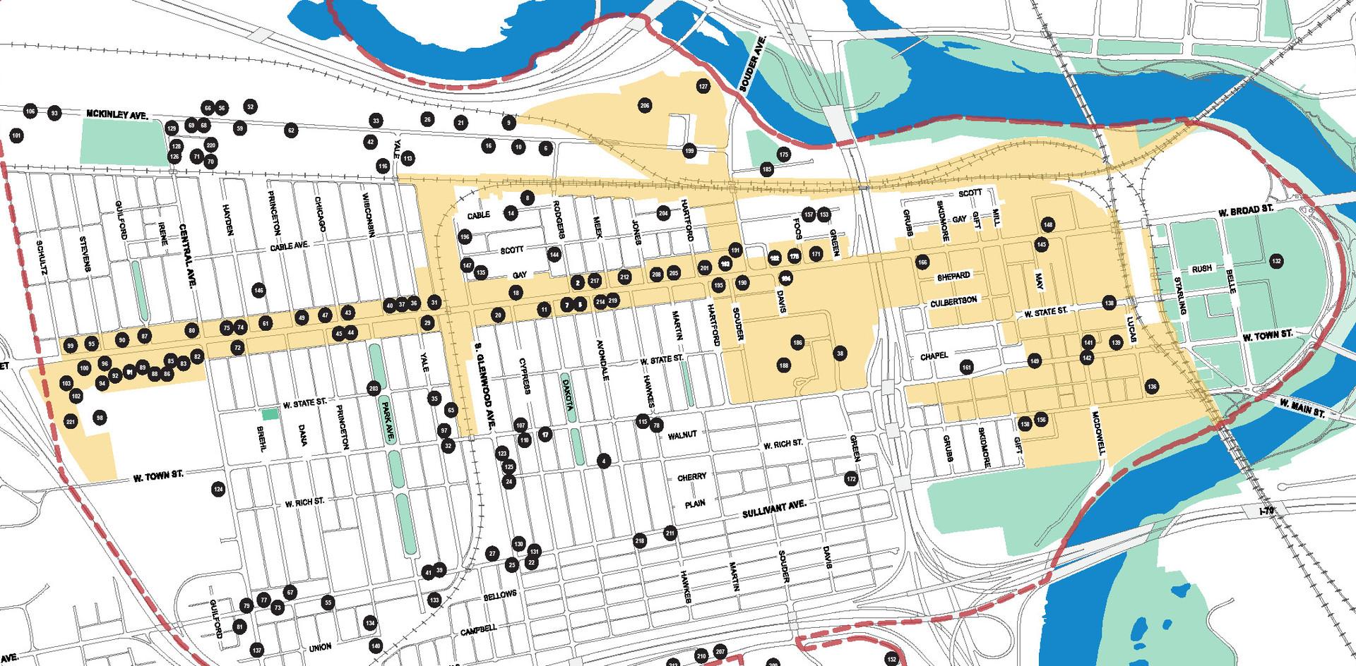 _______ Franklinton Area Map