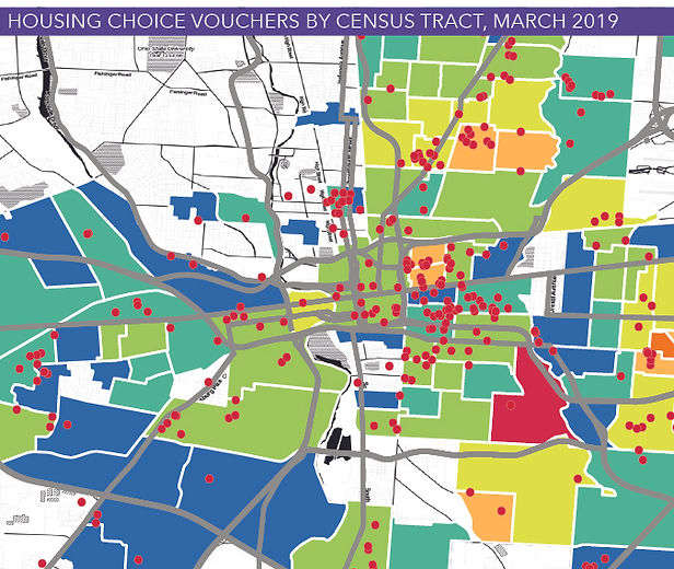 housing choice vouchers by census tract
