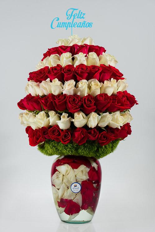 Helado de rosas