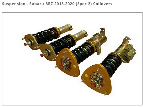 SUBARU BRZ 2013-2020 (SPEC 2) COILOVERS