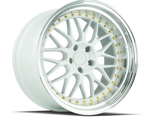 Aodhan AH02 White / Gold Rivets