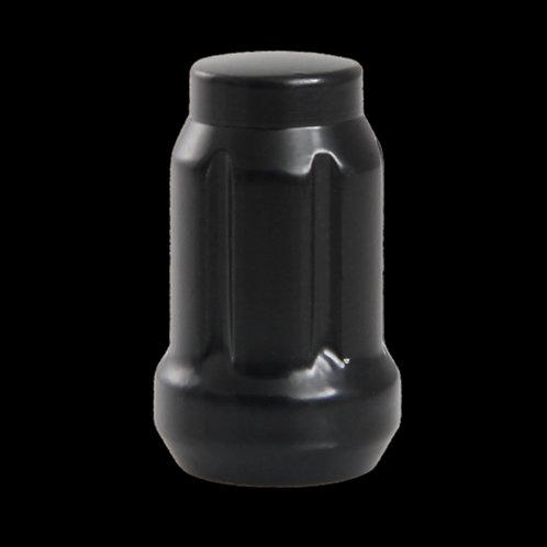 12X1.25 Érous À 6 Cannelures Noir
