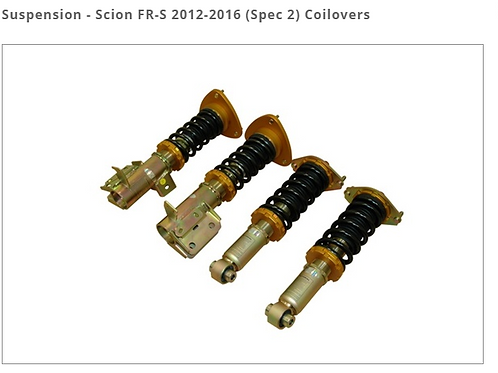 SCION FR-S 2012-2016 (SPEC 2) COILOVERS