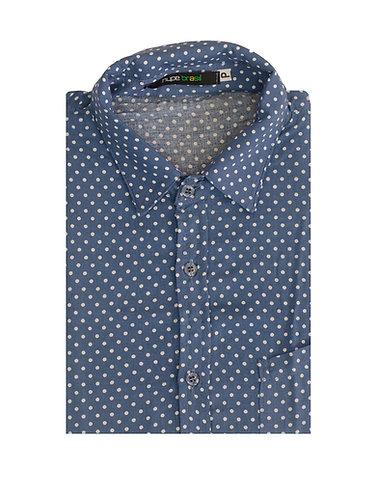 Camisa bolinhas azul