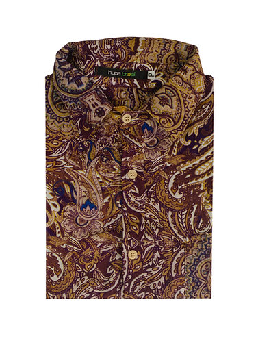 Camisa Paisley com marrom