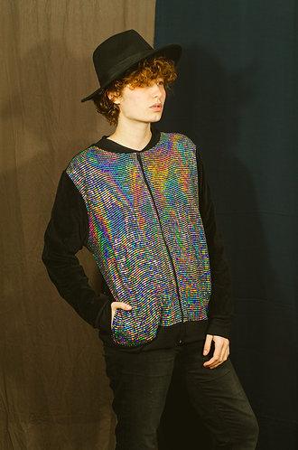 Jaqueta mix  frente holográfica