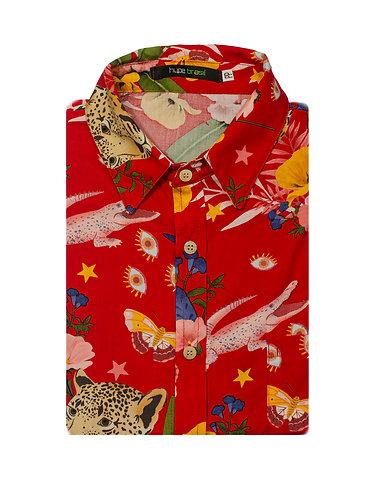 Camisa Onça Carnaval vermelha