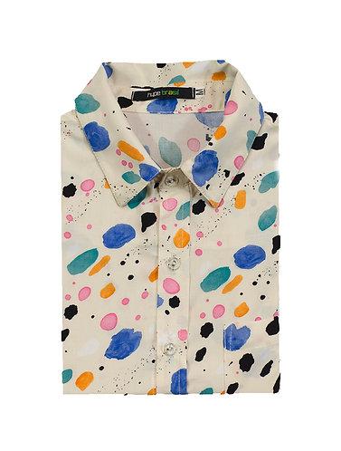 Camisa manchas off white