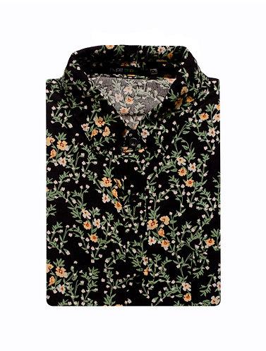 Camisa Floralzinha fundo preto