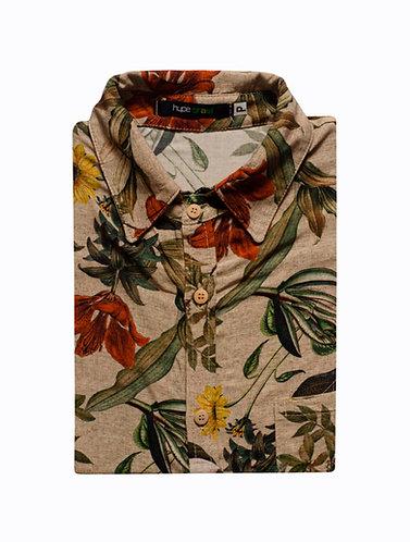 Camisa floral botânico