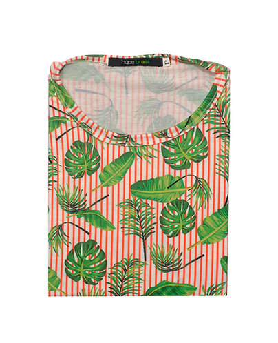 T-shirt monstera listras