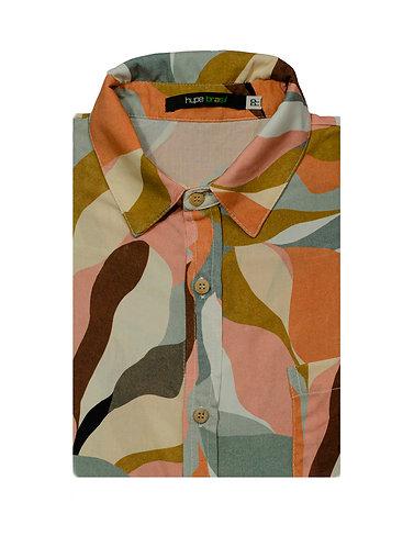 Camisa Manchas abstratas