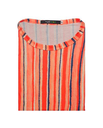 T-shirt aquarela listras