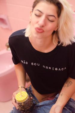 T-shirt Obrigada