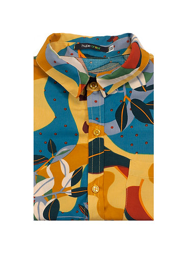 Camisa tropical abstrato