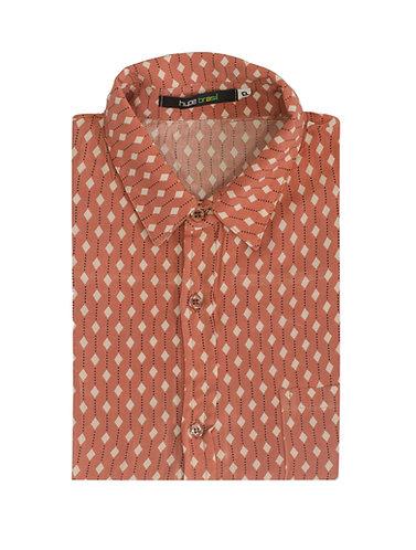Camisa losangos rosê