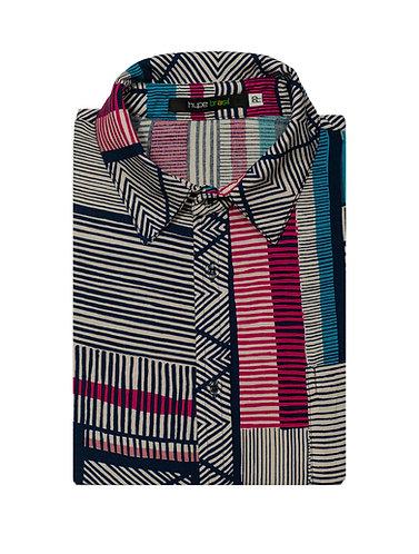 Camisa Hachuras technicolor