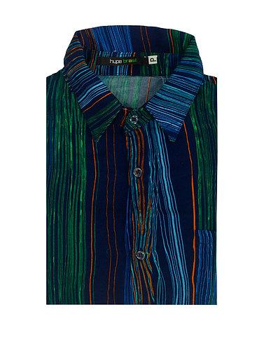 Camisa rabiscos technicolor