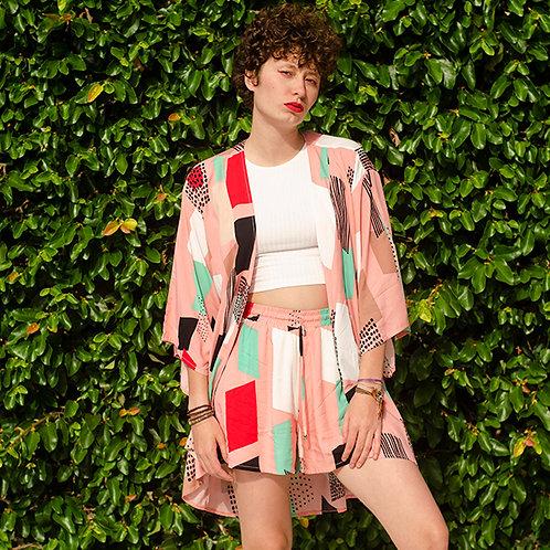 Kimono paint blocks rosa