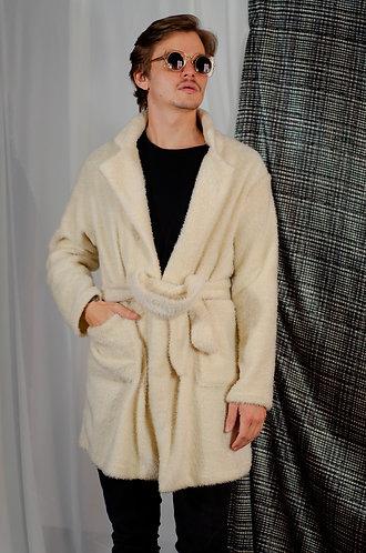Casaco Furry Off white