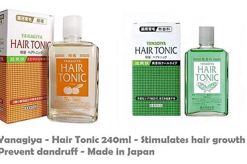 Yanagiya-Hair Tonic 240ml-Stimulates hair growth-Prevent dandruff-Made in Japan
