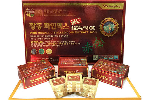 Kwangdong Korean Local Red Pine Essential Oil 120 Capsules 450mg