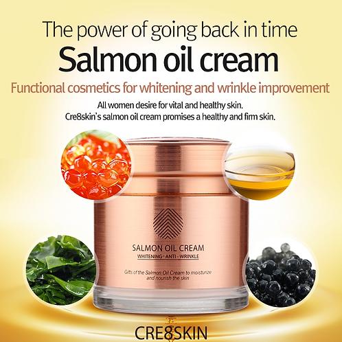 CRE8SKIN Salmon Oil Cream 80g 2.8Oz Daily Whitening Anti-Wrinkle