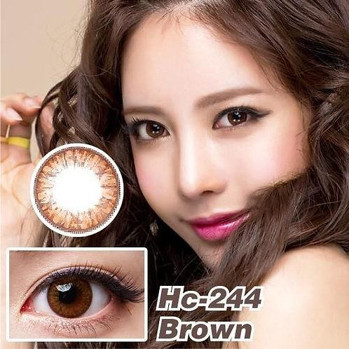 GEO-Magic 1-Year Color Lens HC-244 Grang Grang Brown P-0.00 1 pair/2 pcs