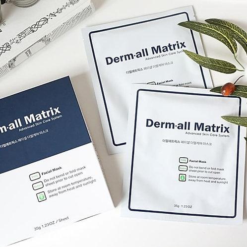 Derm·all Matrix Daily Facial Dermal-care 1Pack (4EA) Facial Mask Sheet