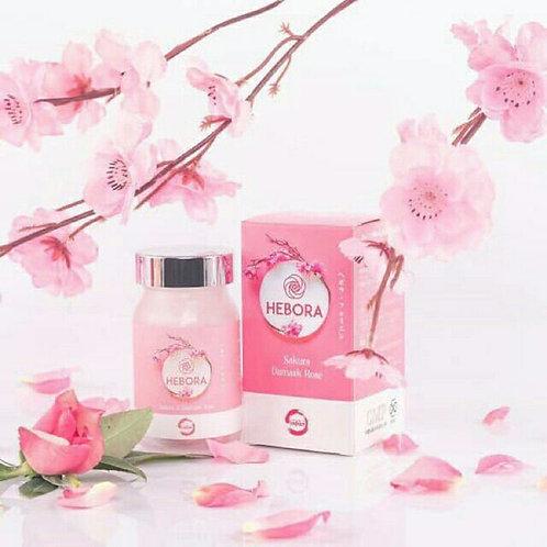 HEBORA SAKURA DAMASK ROSE PILL- The Fragrance of Youth (60 capsules in a bottle)