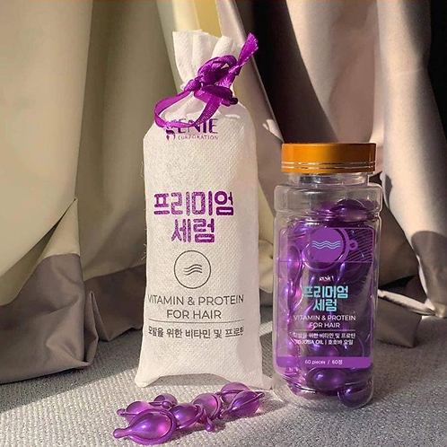 VITAMIN &PROTEIN FOR HAIR GENIE 60 tablets Made In Korea
