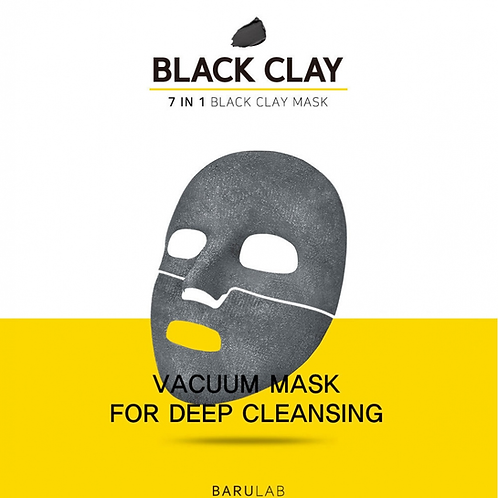 BARULAB - 7 In 1 Total Solution Black Clay Mask Set (5ea per box)