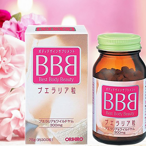 ORIHIRO BBB BEST BODY BEAUTY PUERARIA 300-TABLETS MADE IN JAPAN