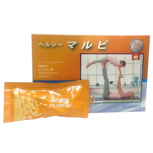 Marubi Collagen Kyuendo Heruse -30pcs( 1 month supply) FREE WHITENING MASK