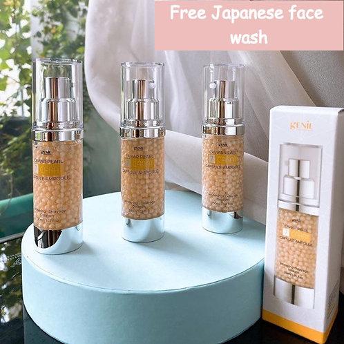 Genie Caviar Pearl Capsule Ampoule 30ml FREE a Japanese CLEANSER sample