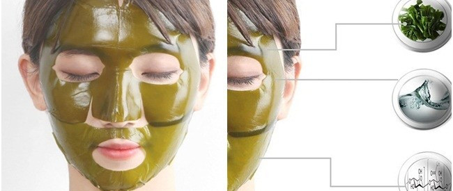 Fresh seaweed mask