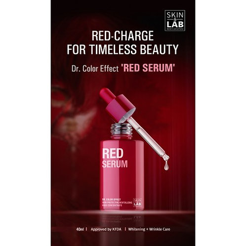 SKIN&LAB - Red Serum 40ml helps circulation for a clearer and brighter skin tone