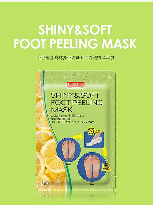 PUREDERM - Shiny & Soft Foot Peeling Mask (1 pair)
