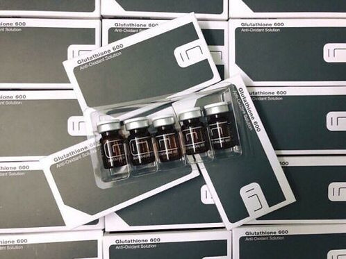 BCN GLUTATHIONE 600 Ampoule Detoxifying Solution | 5 ml vial 0.176 fl. oz x 5